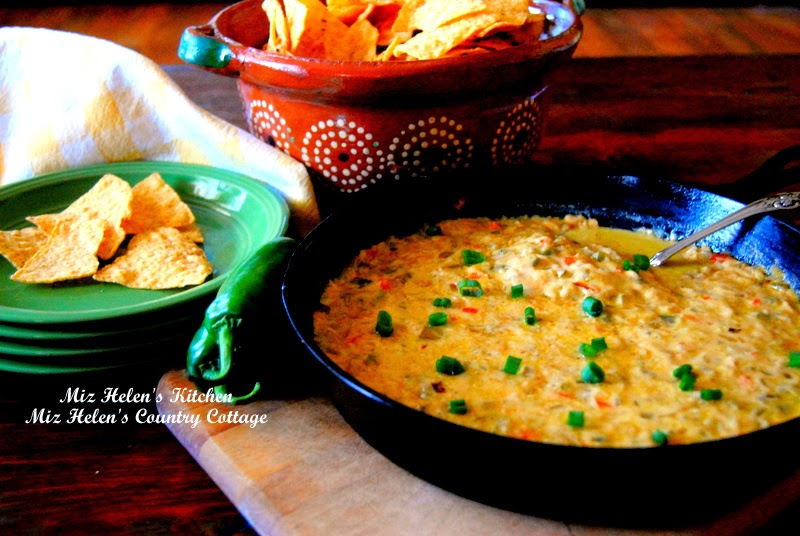 Chilies and Queso Skillet at Miz Helen's Country Cottage