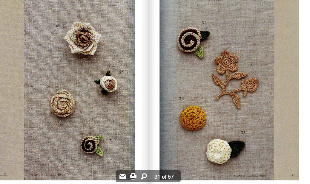 Crochet Patterns Online : Crochetpedia: Crochet Books Online - Crochet Rose Pattern 100