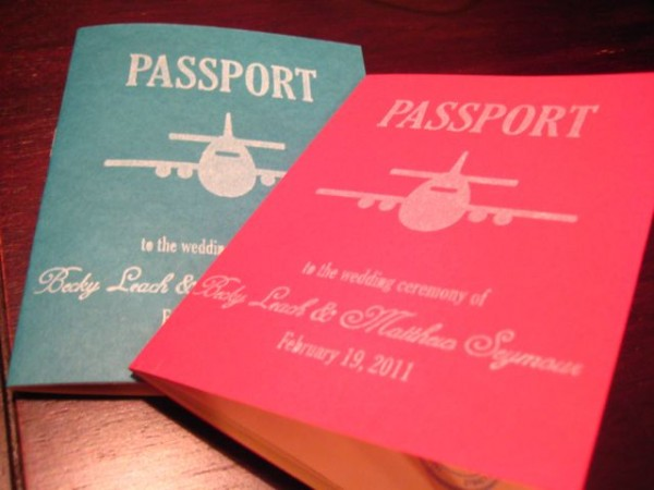 DIY Passport Wedding Programs