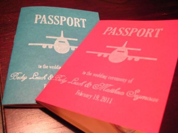 DIY Passport Wedding Programs