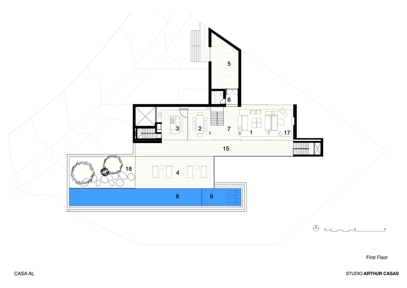 First floor plan of modern dream home in Rio