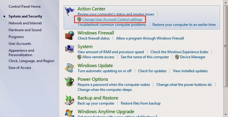 how to change uac for another user