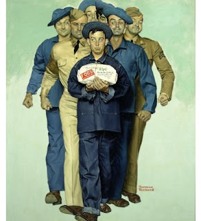Image: Willie Gillis: Package from Home, 1941, by Norman Rockwell