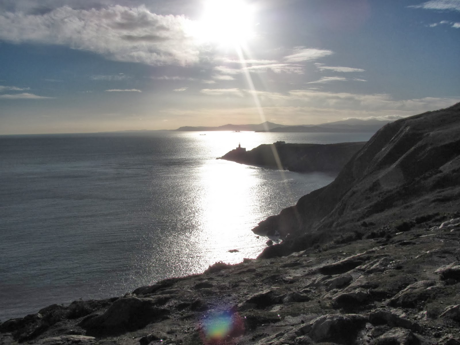 Bright Sun Reflection on the sea in Howth, Co. Dublin, Ireland
