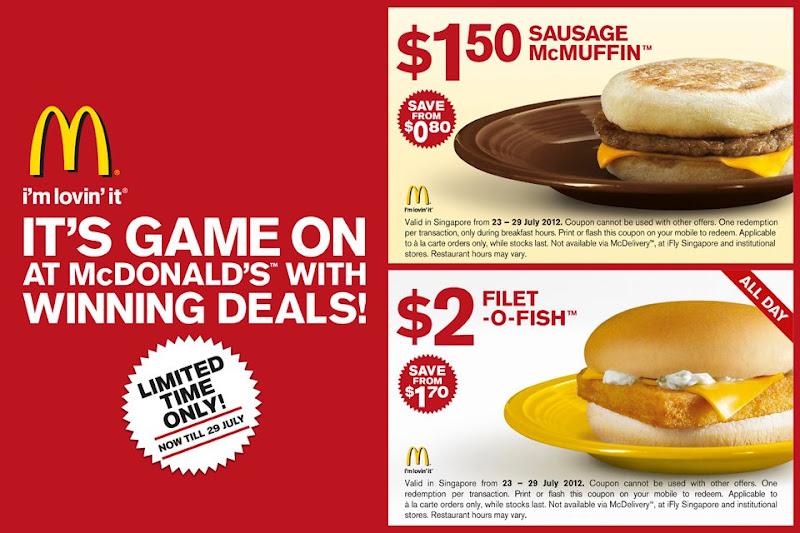 Foodiefc mcdonald 39 s singapore sausage mcmuffin 2 for Mcdonalds filet o fish deal