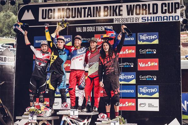 2015 Val Di Sole UCI World Cup Downhill: Results Men's Podium