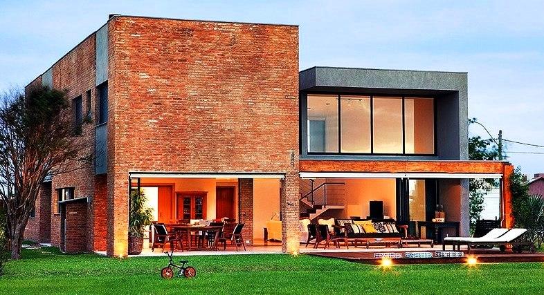 24 fachadas de casas modernas tipos de revestimentos for Casa moderna 4 parte 3