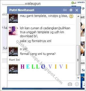 Chat Facebook dengan Teks Warna-Warni