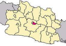 peta lokasi kota bandung, kode pos kota bandung, wilayah kota bandung