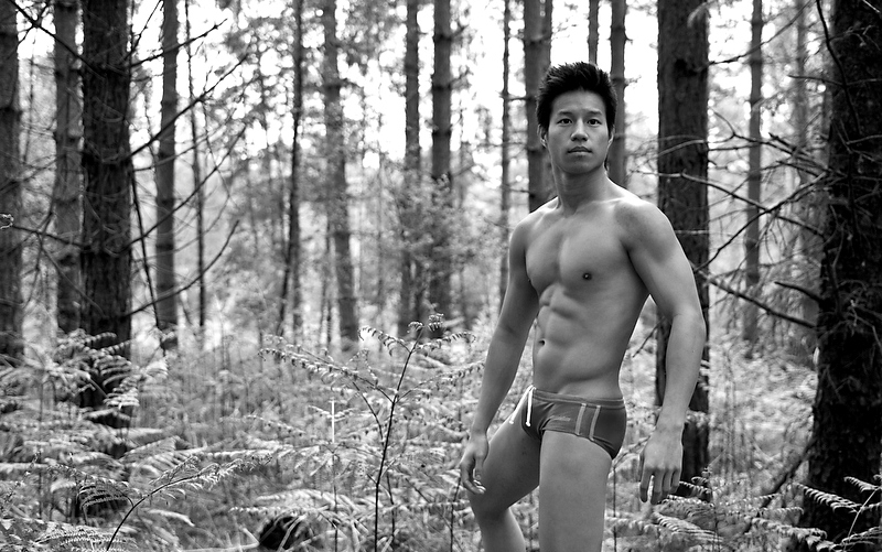Mixed Asian guy nude