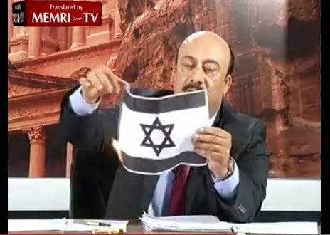 Hos TV Jordan Bakar Dan Ludah Bendera Israel Secara Langsung