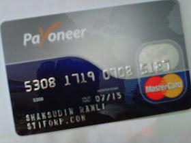 Percuma Kad Payoneer Mastercard apabila anda menjadi Ahli
