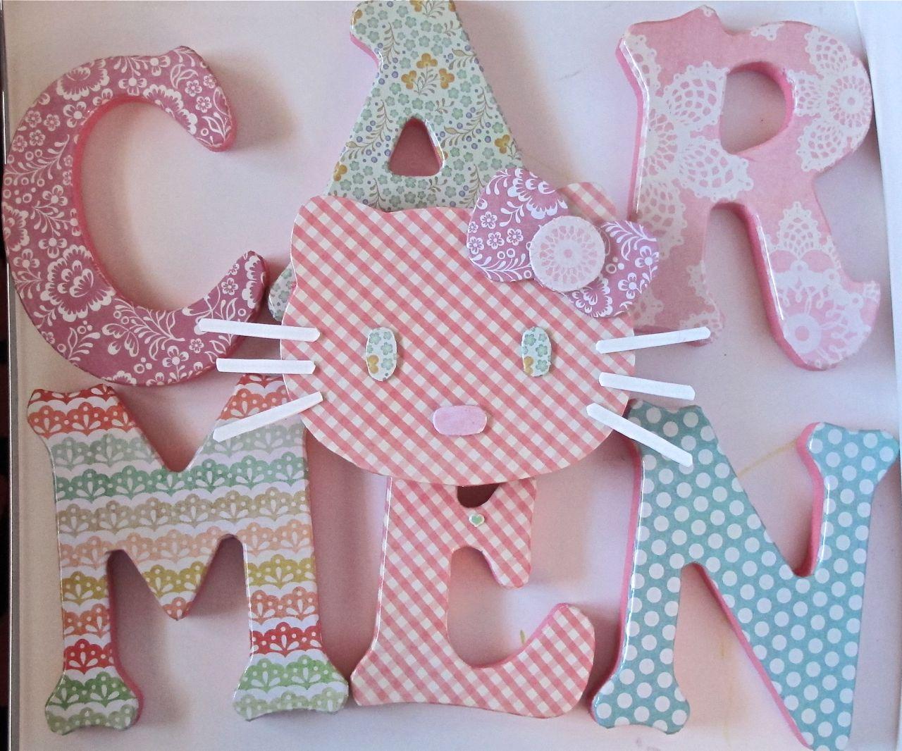 El jard n de los nombres carmen y su hello mitti - Letras para decorar habitacion infantil ...