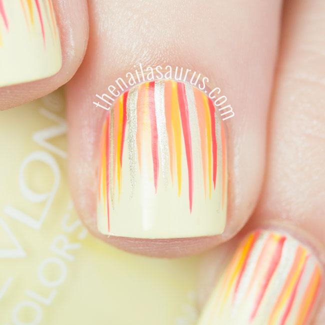 Yellow Waterfall Nails