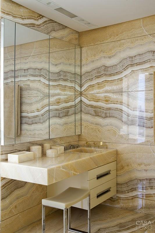 Banheiro decorado, lindo e diferente  Porta Mundo -> Banheiro Decorado Com Porcelanato Imitando Madeira