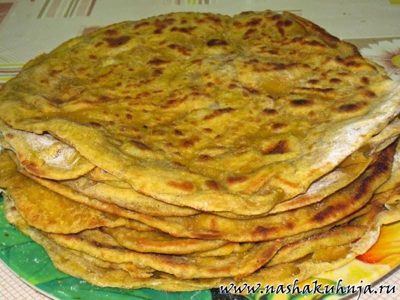 Пирог из слоеного теста с мясом и капустой рецепт