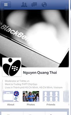 Se ha mostrado en imagenes un poco de la apariencia de la aplicación de Facebook para BlackBerry 10.