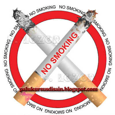 Gambar No smoking - Vector
