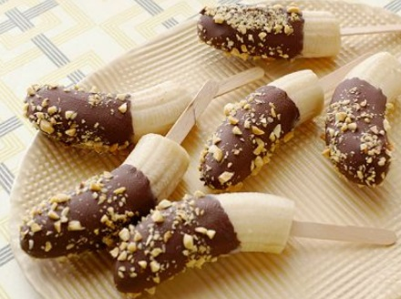 Bananas con chocolate