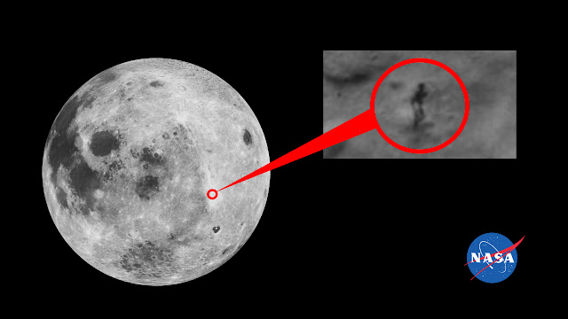 47 Pictures Showing Strange 'Man-Shaped Figure on The Moon'