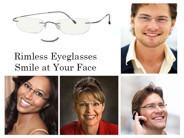 Rimless Glasses Round Face : Face Gracefully Tapers To A Narrow Oval Chin Round Length ...