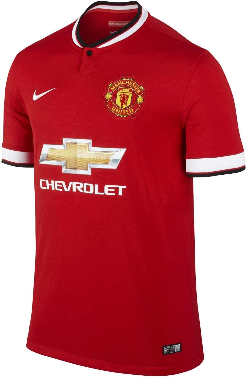 Design t shirt manchester united - The New Manchester United 14 15 Home Kit Features A Classical Kit Design The Main Color Diablo Red Is Combined With White Applications And Black Details