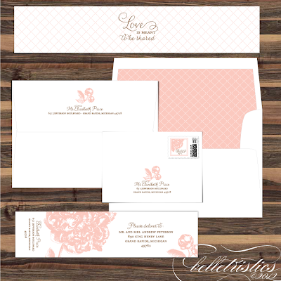 pink peony sweet romantic printable wedding print your own wedding address label design