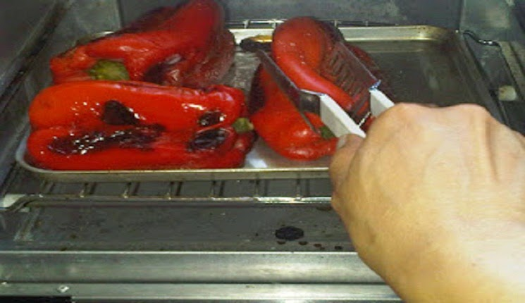pimentones asados