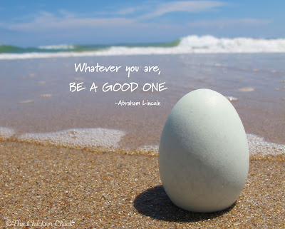 Whatever you are, be a good one. Good eggs.
