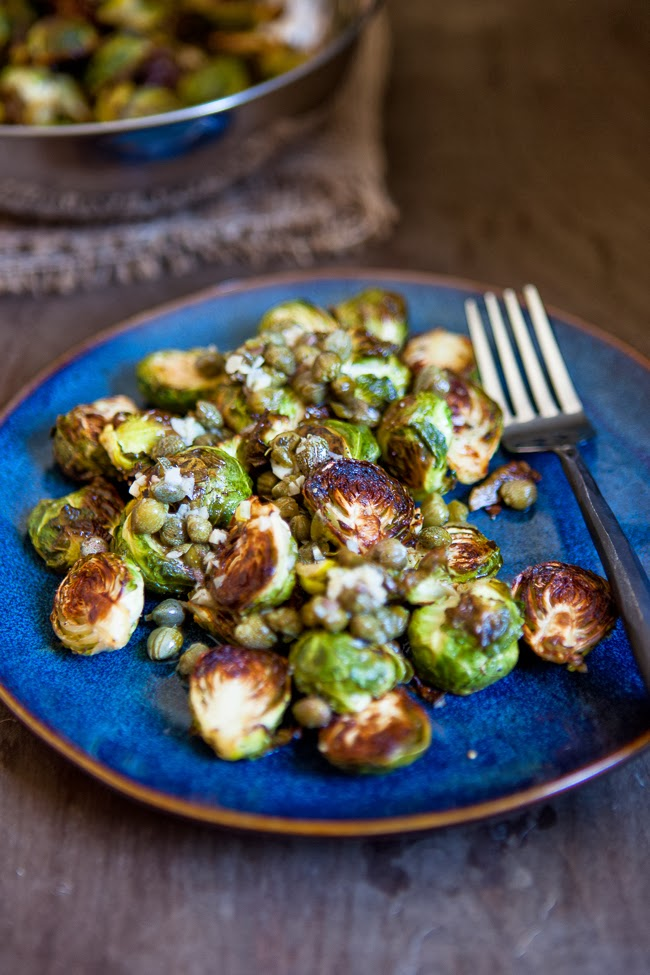 Roasted Brussel Sprouts  with Capers / blog.jchongstudio.com