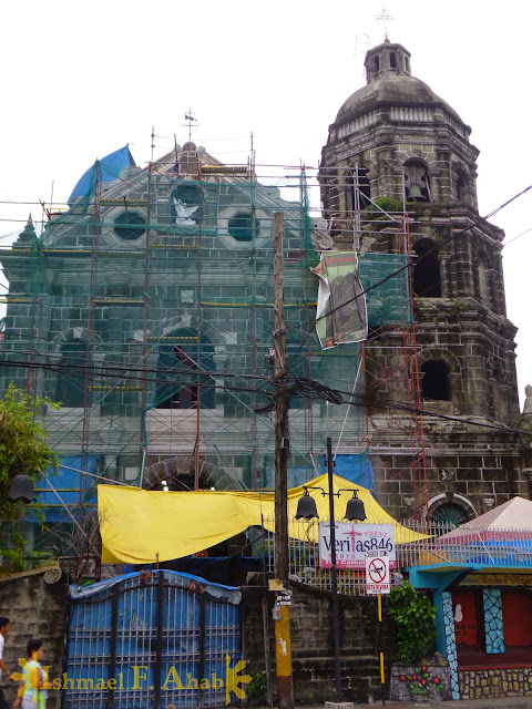 Santa Ana Church under renovation