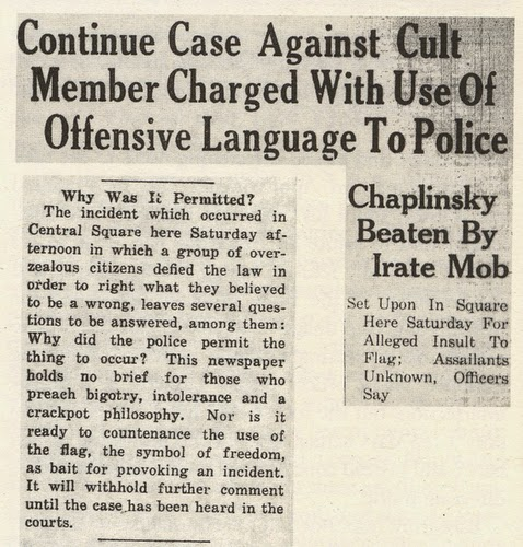 chaplinsky vs new hampshire Chaplinksy v new hampshire is a famous us supreme court case that established the fighting words doctrine fighting words and certain other.