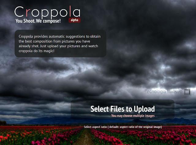 Croppola es una pagina web que nos permite editar imágenes