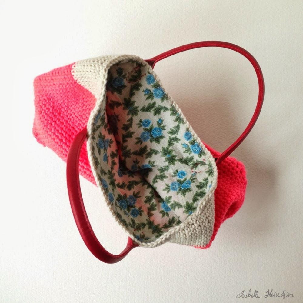 isabelle kessedjian sc n 188 un cabas au crochet avec un moule g teau. Black Bedroom Furniture Sets. Home Design Ideas