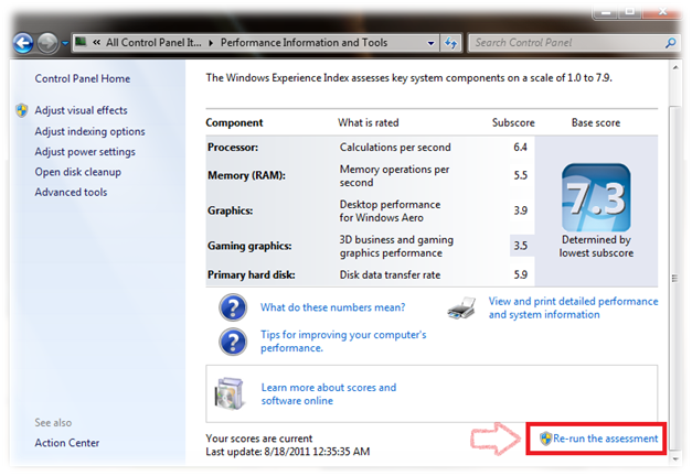 Cara Ubah Nilai Windows Experience Index