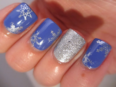 Silver-snowflake-nail-art-purple-accessorize-bourjois-konad-stamping
