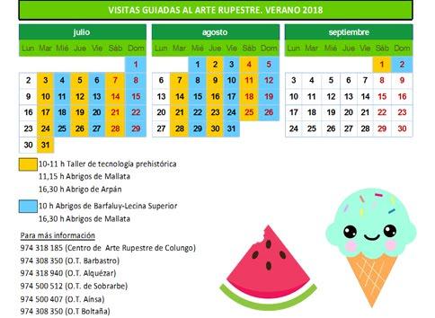 VERANO 2018. VISITAS GUIADAS AL ARTE RUPESTRE