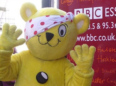 Pudsey of Children In Need with Illuminato hidden eye