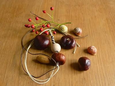 Basteln mit Früchten aus der Natur