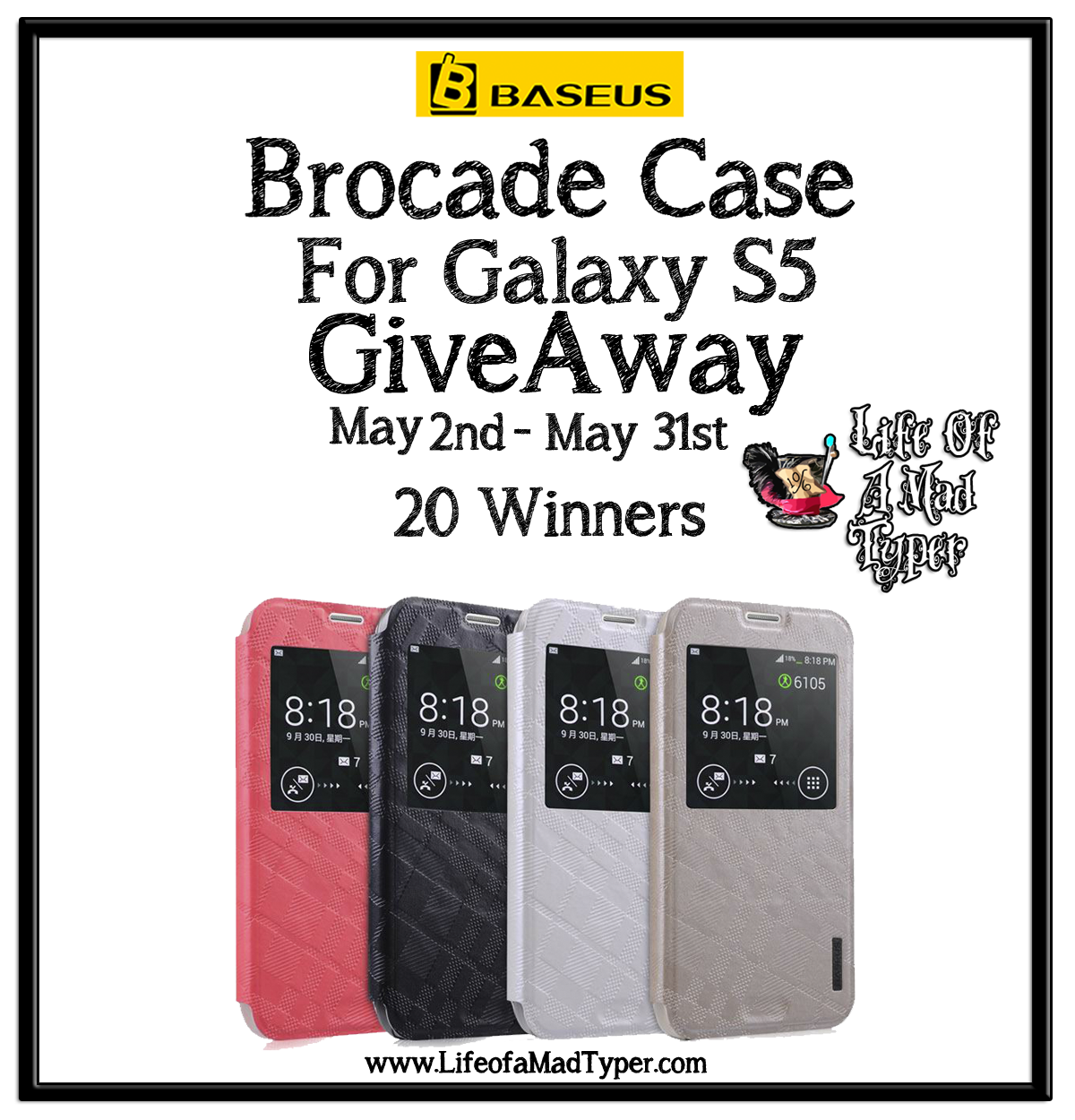 Galaxy S5 Brocade case by BASEUS #giveaway