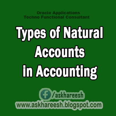 Types of Natural Accounts in Accounting, AskHareesh Blog for OracleApps