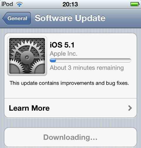 Download iOS 5.1 Software Update