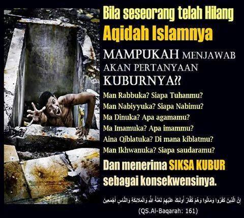 Bila telah hilang aqidah islamnya