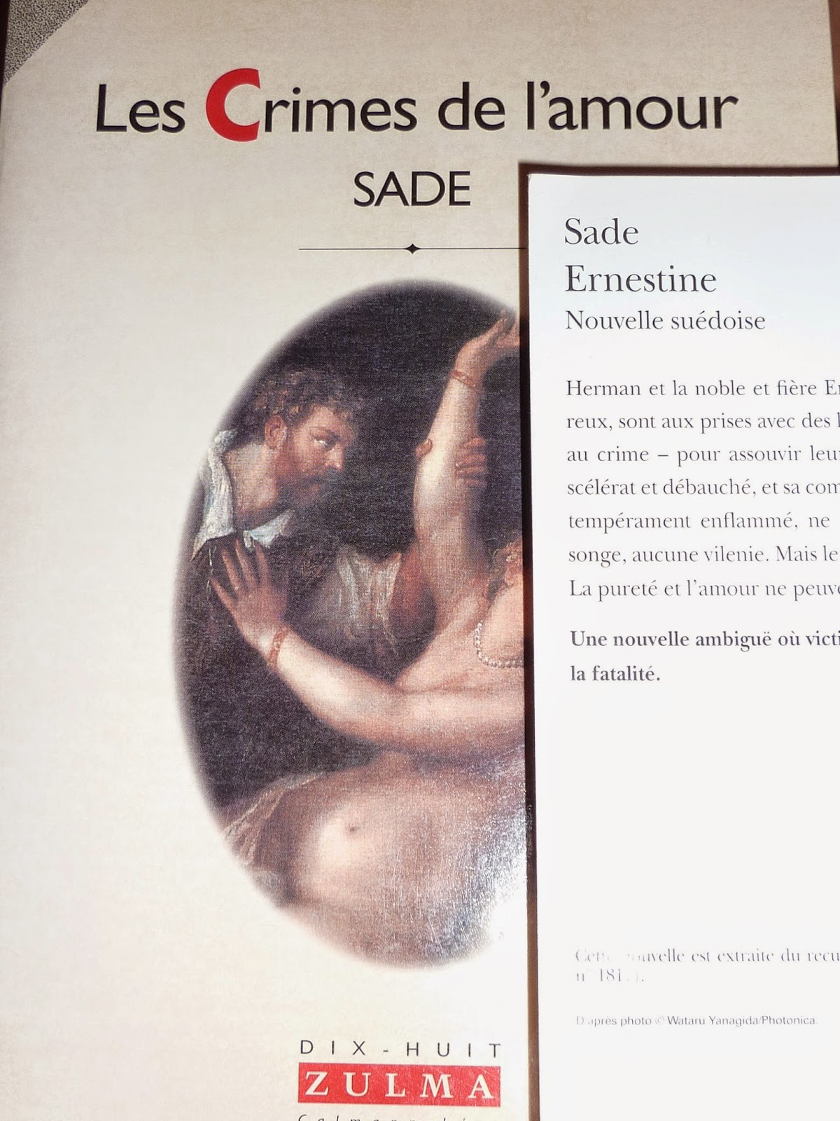 Les crimes de l'amour - Sade