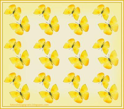 fondo vintage amarillo con mariposas