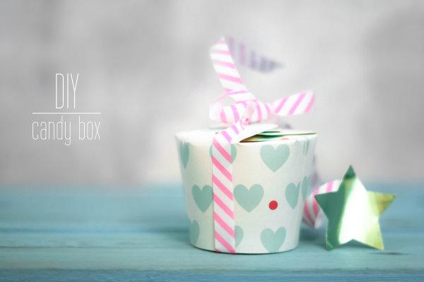Selbstgemachte Candyboxen aus Pappbechern