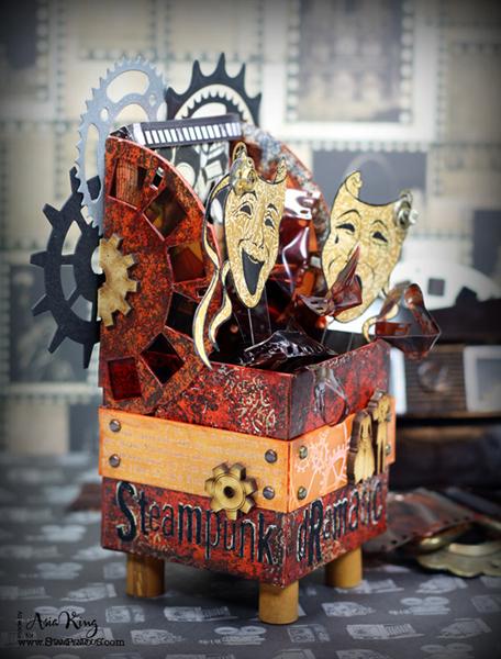 Steampunk Artist Trading Block Stampendous