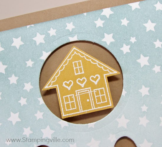 You Brighten My Day stamp set for Sale-a-bration 2015. House image matches arrow punch! #papercrafts #cardmaking #StampinUp