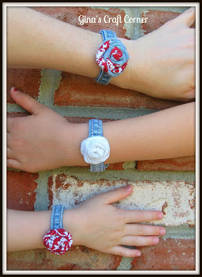 Upcycle of Blue Jeans into bracelets