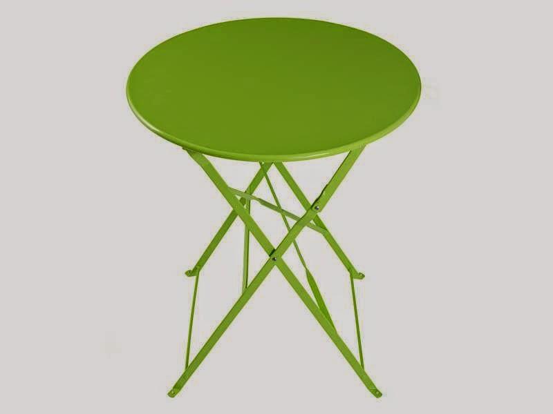 Muebles de forja muebles de exterior en colores serie barlesa for Mesa terraza plegable